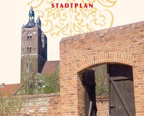 Flyer Hansestadt Seehausen Stadtplan